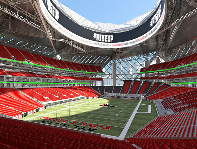 According to an update posted on the stadium's website, the venue is taking  shape /