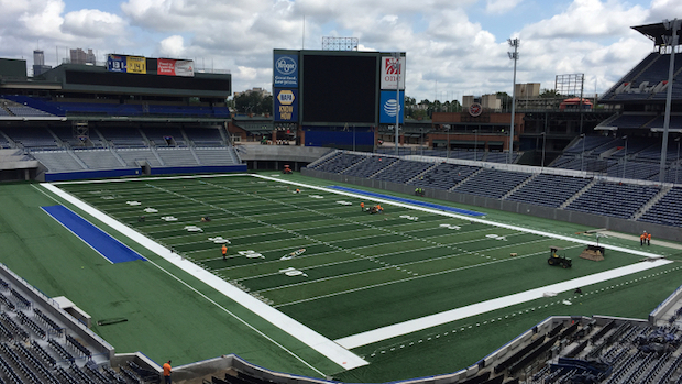 georgia state stadium ready for its corky kell debut